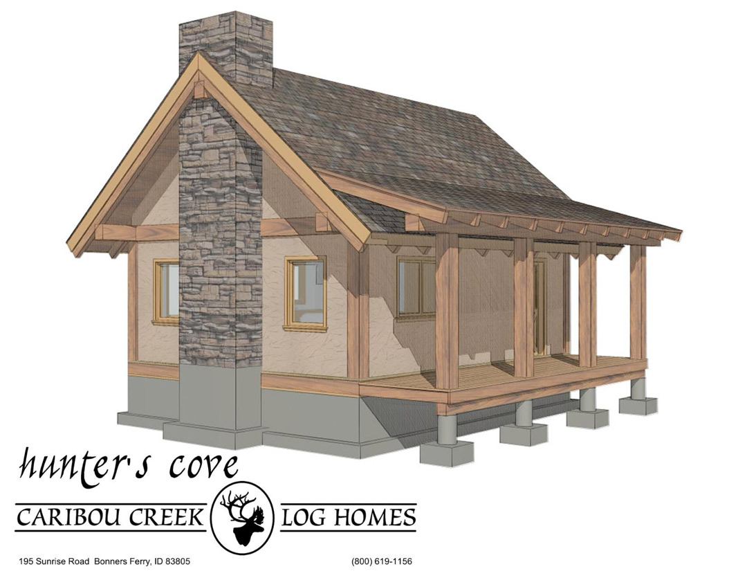 Portfolio piece lumberjack 39 s cabin polycount for A frame log cabin plans