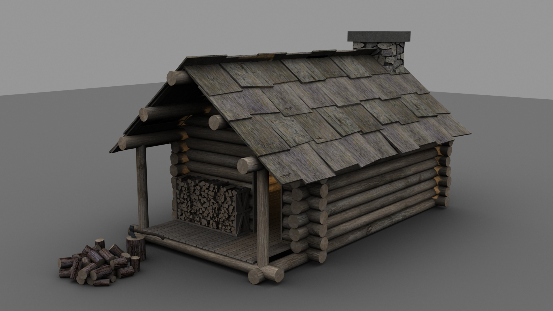 Amazing photo of Portfolio Piece Lumberjack's Cabin Polycount Forum with #585149 color and 1920x1080 pixels